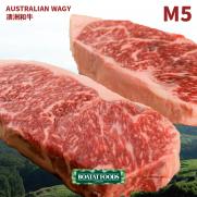 澳洲極黑 M5 和牛西冷牛扒 (約220g)